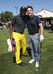 Sugar Ray Leonard and Peter Gallagher