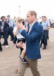 Prince George, Prince William and The Duke Of Cambridge