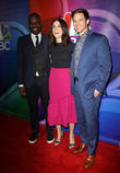 Malcolm Barrett, Abigail Spencer and Matt Lanter