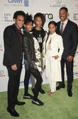 Will Smith, Jada Pinkett Smith, Willow Smith, Jaden Smith and Trey Smith