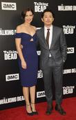 Steven Yeun and Lauren Cohan