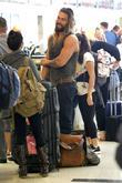 Jason Momoa at Los Angeles International Airport